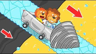 Lion Family Journey to the Center of the Earth №9. Sand for Baby Orc | Cartoon for Kids