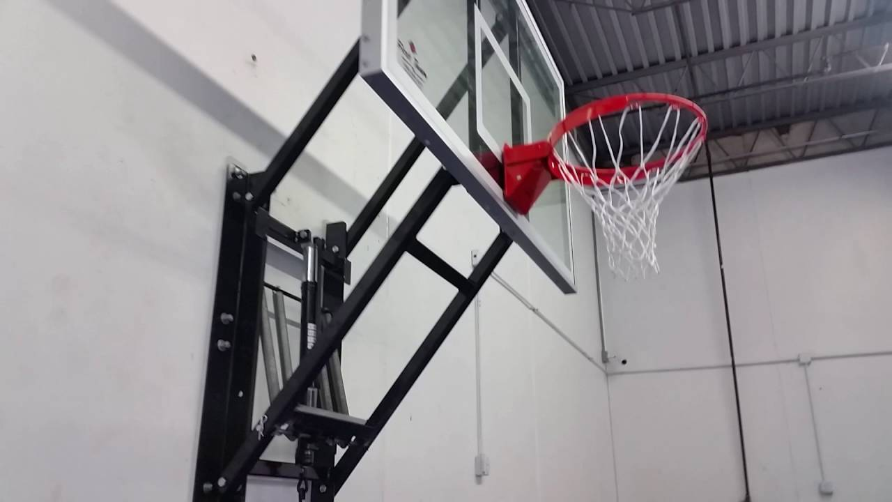 WallMonster ~ Wall Mounted Basketball Hoop - YouTube