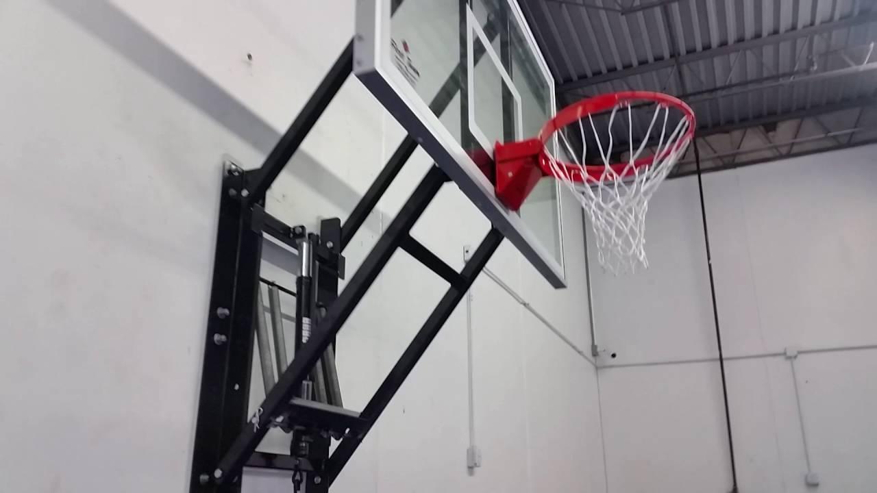 WallMonster ~ Wall Mounted Basketball Hoop - YouTube
