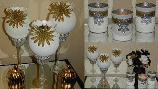 Elegant Christmas Candle Holders| Dollar Tree Christmas Home Decor|