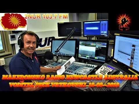 MAKEDONSKO RADIO 2NUR FM 103.7 NEWCASTLE AUSTRALIA 18 08 2018