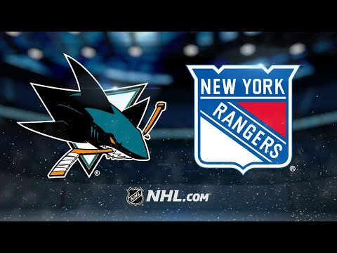 Jones, Couture lead Sharks to 4-1 win against Rangers