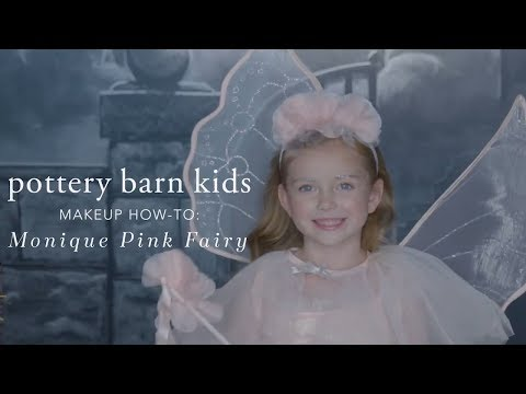 Easy Halloween Makeup Tutorial - Pink Fairy Costume for Pottery Barn Kids