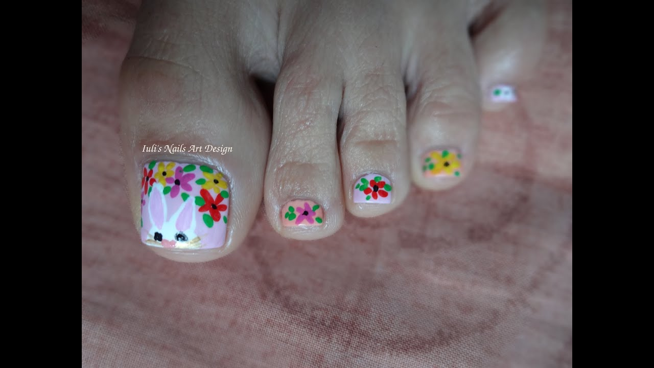 Easter Toes Art Design Spring Pastel Colors Tutorial