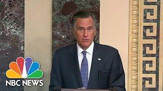 Mitt Romney Only Republican Senator To Vote To Convict Trump | NBC Nightly News