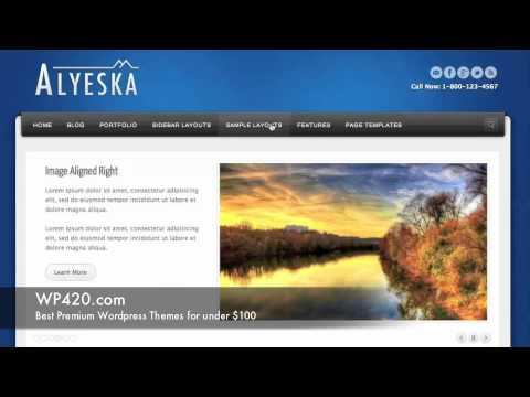 Alyeska Elegant Wordpress Theme Demo - YouTube