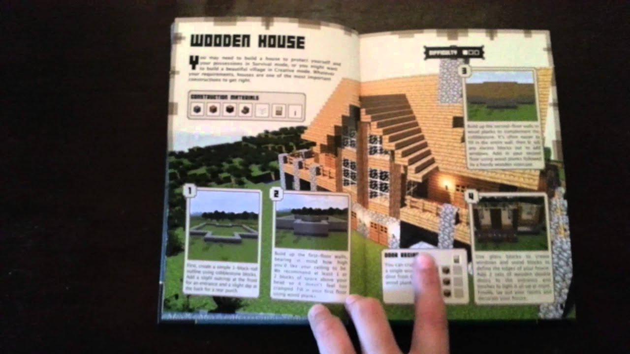 minecraft handbooks construction guide youtube rh youtube com minecraft construction guide officiel pdf minecraft house construction guide