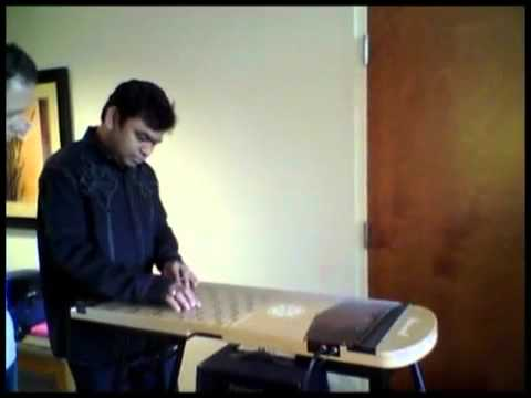 A R Rahman with New Music Instrument Harpejji K24