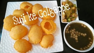Perfect Homemade Suji Ke Golgappe Recipe with Aami Puddina Pani/Panipuri/Chaat by Somyaskitchen #262