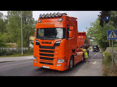 SWEDEN - MODERN ROAD ASPHALT PEAB + BOMAG + VÖGELE - ROAD CUNSTRUCTION!