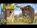 How to build an EASY and NATURAL-looking birdhouse