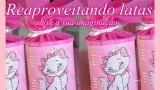 Reciclagem com latas passo a passo por Artesanato Viviane Magalhães