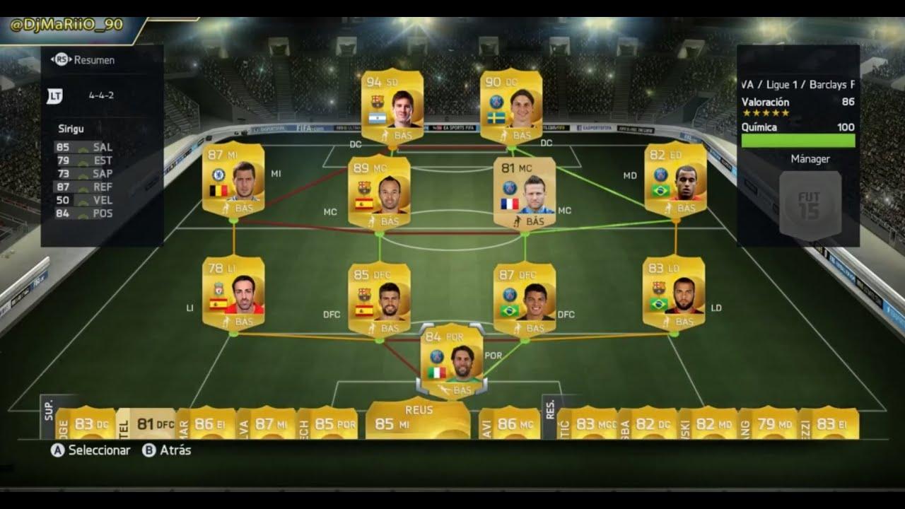 FIFA 15 | Probando jugadores Ultimate Team | DEMO - YouTube