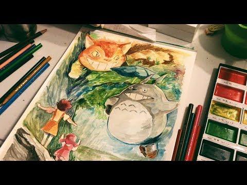 MY NEIGHBOR TOTORO - Watercolor (just for fun)