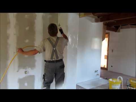 farbe spritzen w nde und decke streichen war gestern he. Black Bedroom Furniture Sets. Home Design Ideas