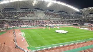 2018年10月12日  キリンチャレンジカップ 日本vsパナマ 選手入場 FIFAアンセム