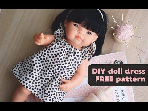 Easy Sewing DIY Miniland Doll Dress/tunic FREE PATTERN