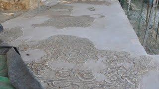 Simav 39 da Mozaikli ev kazısında sona gelindi