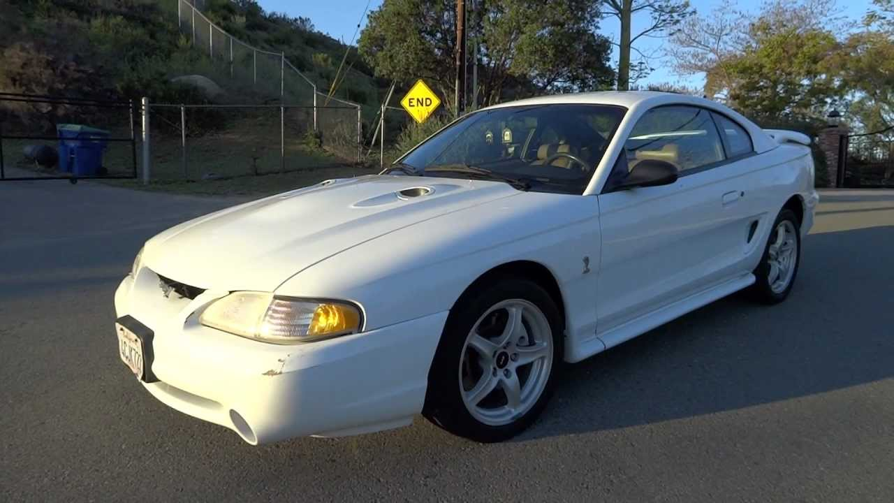 Ford Mustang Svt Cobra Coupe 1998 Shelby 2 Owner 4 6l V8 5
