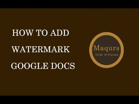 How to add watermark in google documents | How to insert watermark image and text google