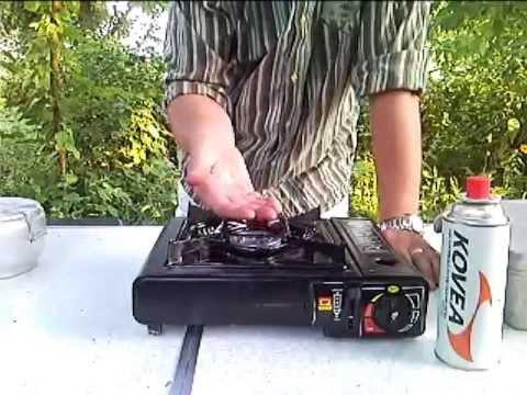 Газовая плитка с переходником под внешний баллон - YouTube