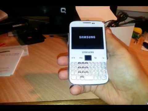 Samsung Galaxy Y Pro young B5510 unboxing and review