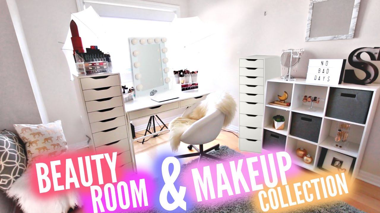 Huge Beauty Room Tour 10 000 Makeup Collection Youtube