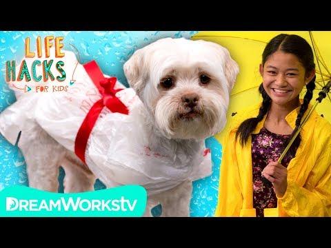 Dog Rain Coat + Other Waterproof Hacks | LIFE HACKS FOR KIDS