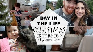 DAY IN THE LIFE MOM BABY TODDLER // CHRISTMAS TREE HUNTING!!