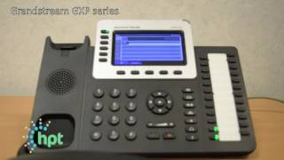 How to set up a conference call on a hosted GXP series Grandstream phone