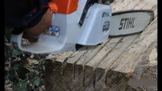 Awesome skill, log to lumber with a chainsaw.