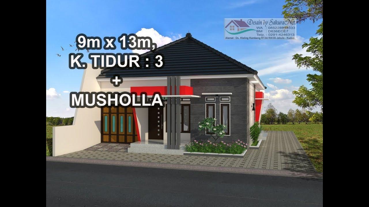 Desain Rumah 9x12 Meter 3 Ruang Tidur 2 Toilet By Arsika Desain Konstruksi