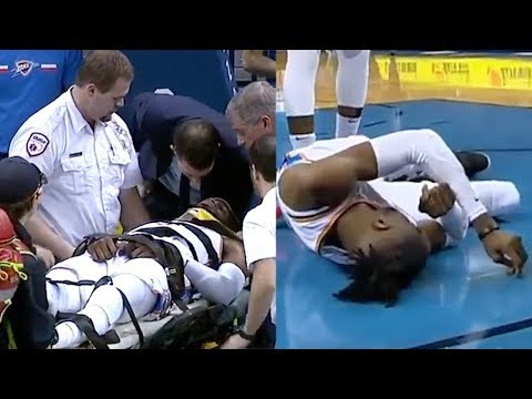 OKC Thunder's Nerlens Noel HOSPITALIZED After His Head BOUNCES On The Court!