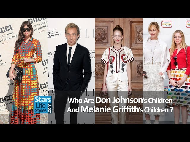 Who Are Don Johnsons Children And Melanie Griffiths Children ? [3 Daughters And 4 Sons]