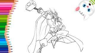 Thor 🔨   Come disegnare e colorare   Piccole Mani Libro Da Colorare