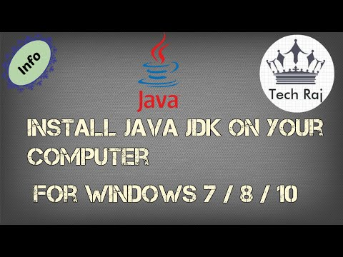 How To Download And Install Java JDK On Windows 7/8/10