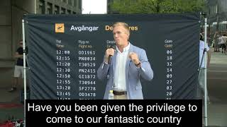 William Hahne, UT Alternative For Sweden Speech with English subs