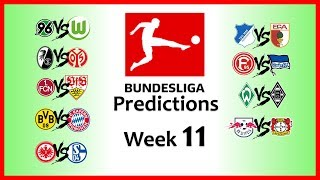 2018-19 BUNDESLIGA PREDICTIONS - WEEK 11