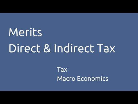 Merits of Direct Tax & Indirect Tax | Tax Structure | CA CPT | CS & CMA Foundation | Class 11