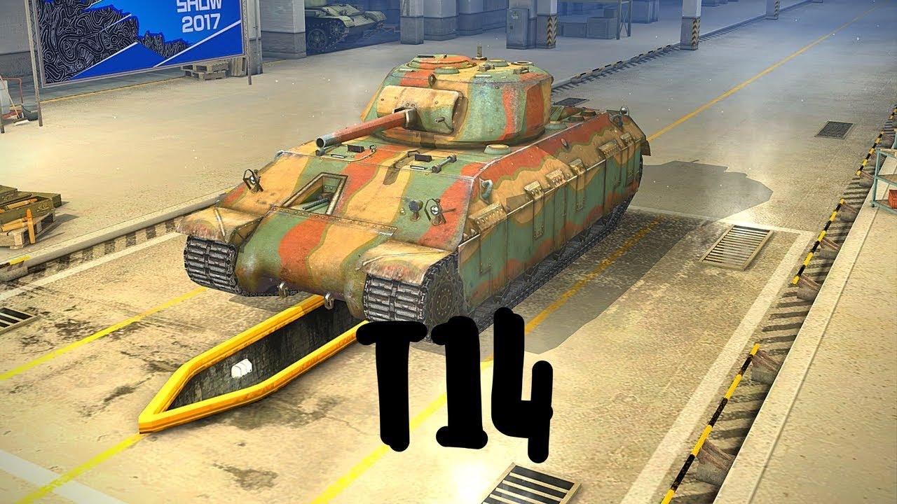 World of Tanks Blitz. T14 (прем танк 5 уровня). Летсплей