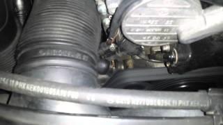 moteur bruit à l'arret mercedes c270 cdi
