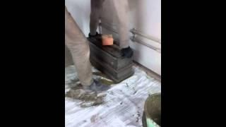 Арболит- формовка первого блока.(, 2016-03-18T08:05:18.000Z)