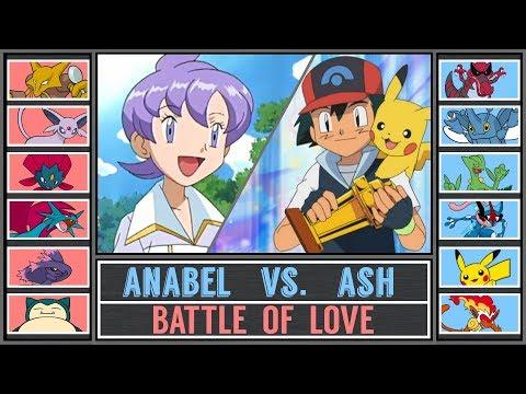 Ash vs. Anabel (Pokémon Sun/Moon) - Battle of Love