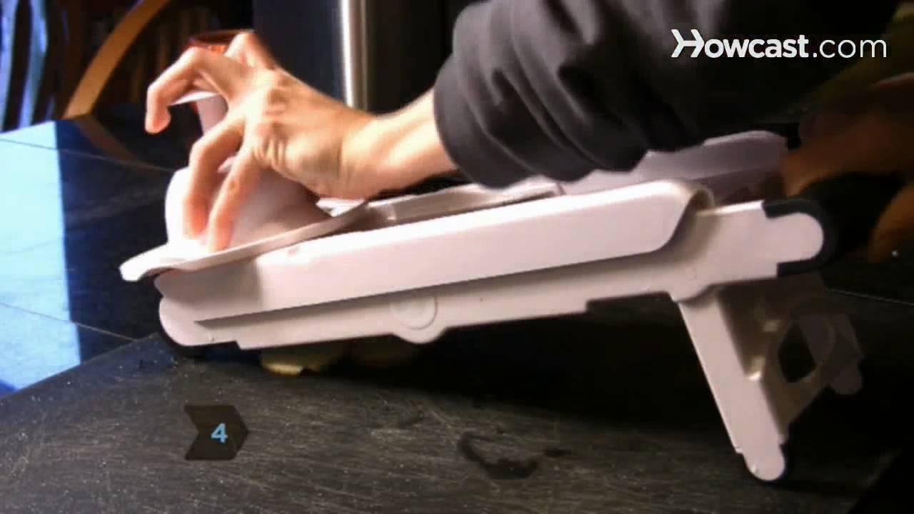 How to Use a Mandoline Slicer  YouTube