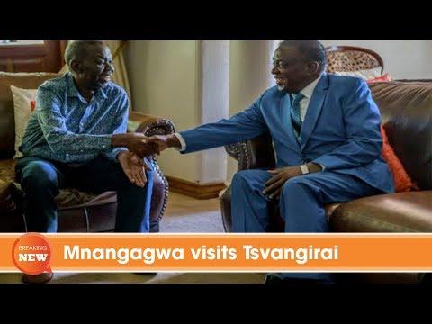 Mnangagwa visits Tsvangirai