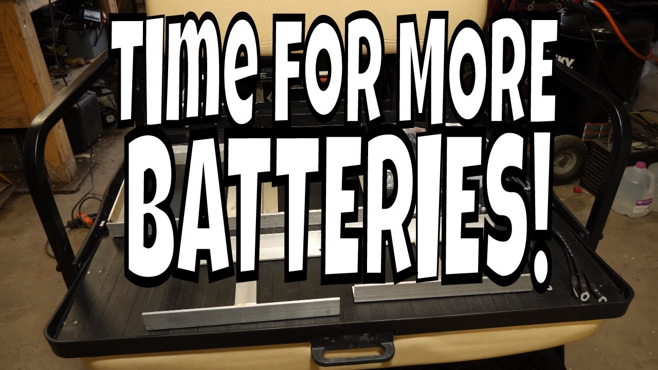 2006 Club Car Ds 48 Volt Electric 4 12v To 6 8v Battery Conversion Upgrade Youtube