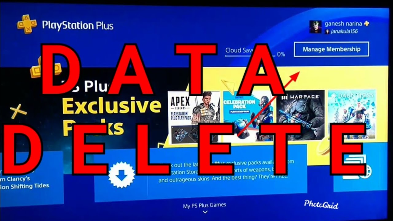 PS4 How to Delete GAME DATA Easy! - YouTube