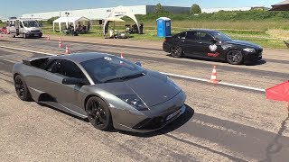 Lamborghini Murcielago LP640 vs 740HP BMW M5 F10