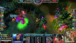VUL vs SSO | Vulcun vs Samsung Galaxy Ozone Worlds 2013 Day 6 group B | Season 3 D6G2 VOD