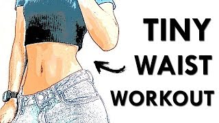 Small Waist Workout (No jumping) | 8 Minute Seated Waist & Ab Workout For Sculpted Waistline